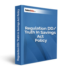 Regulation DD/Truth In Savings Act Policy