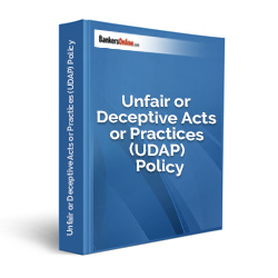 Unfair or Deceptive Acts or Practices (UDAP) Policy