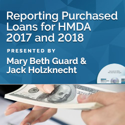 Reporting Purchased Loans for HMDA 2017 and 2018