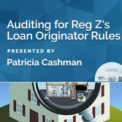 Auditing for Reg. Z's Loan Originator Rules