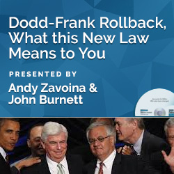 Dodd-Frank Rollback, What this New Law Means to You
