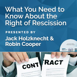 What You Need to Know About the Right of Rescission