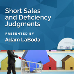 Short Sales and Deficiency Judgments