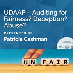 UDAAP – Auditing for Fairness? Deception? Abuse?
