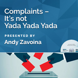 Complaints – It's not Yada Yada Yada
