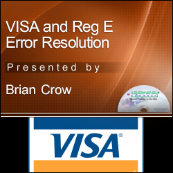 VISA and Reg E Error Resolution
